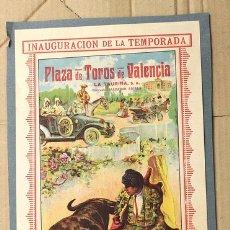 Tauromaquia: CARTEL PLAZA DE TOROS DE VALENCIA. 12 DE MARZO DE 1916. VAQUERITO - BALLESTEROS - ZARCO. Lote 150374118