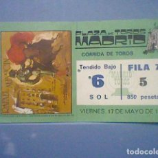 Tauromachia: SAN ISIDRO 1985 ENTRADA TENDIDO BAJO SOL VENTAS MADRID PUBLICIDAD NISSA VANETTE TOROS 17 MAYO 85. Lote 151138002
