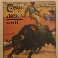 Tauromaquia: 1944 PROGRAMA DE LAS 10 GRANDES CORRIDAS DE TOROS EN LA PLAZA DE TOROS DE VALENCIA 13X20,5 CM. Lote 148831322