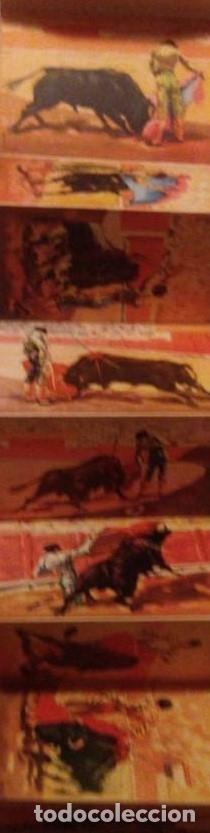 Tira de 9 postales. Corrida de toros. Ediciones karalaz. Barcelona. 15,5x92 cm - 146759274