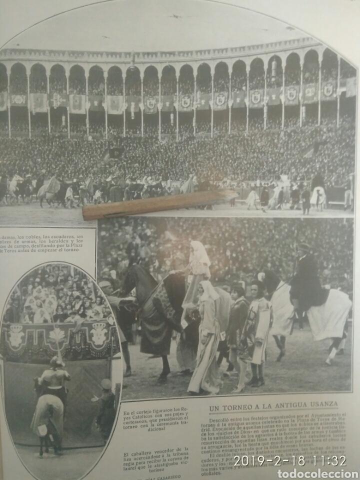 RECORTE PRENSA AÑOS 20-1925 TORNEO A LA ANTIGUA USANZA CELEBRADO PLAZA TOROS MADRID.MN 90 (Coleccionismo - Tauromaquia)