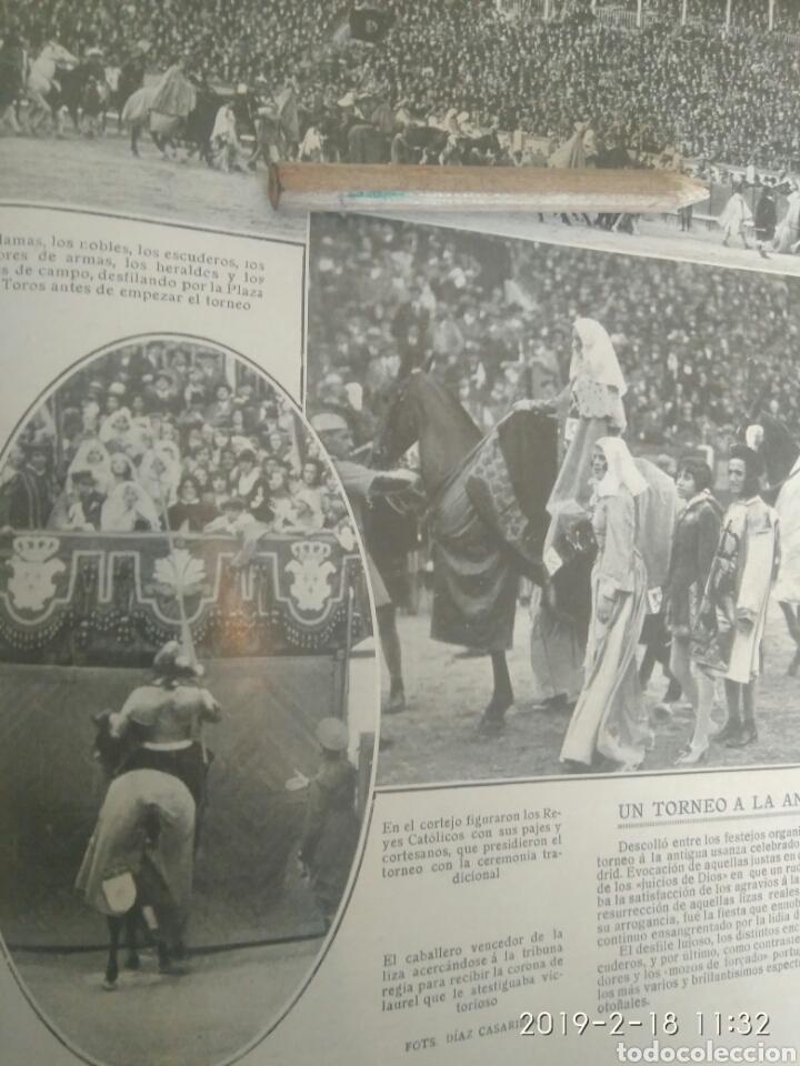 Tauromaquia: RECORTE PRENSA AÑOS 20-1925 TORNEO A LA ANTIGUA USANZA CELEBRADO PLAZA TOROS MADRID.MN 90 - Foto 2 - 151708753