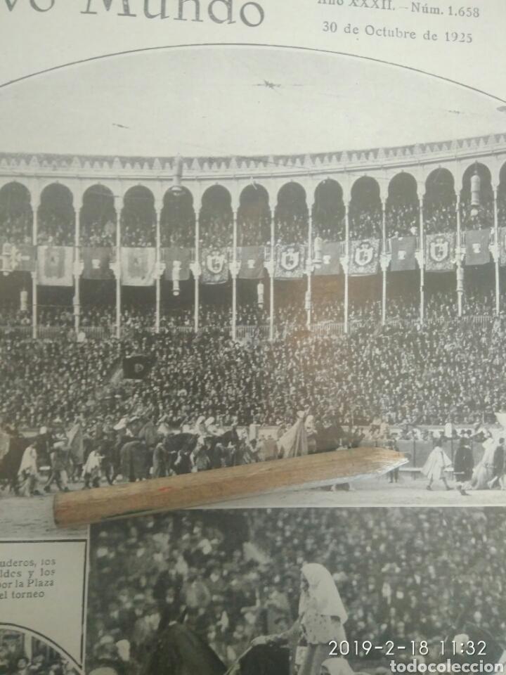 Tauromaquia: RECORTE PRENSA AÑOS 20-1925 TORNEO A LA ANTIGUA USANZA CELEBRADO PLAZA TOROS MADRID.MN 90 - Foto 3 - 151708753