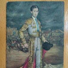 Tauromaquia: POSTAL, MANOLETE, OLEO DE FEDERICO ECHEVARRIA, REVERSO CON PUBLICIDAD, PERFUMES HAYUCO-BILBAO. Lote 152039994