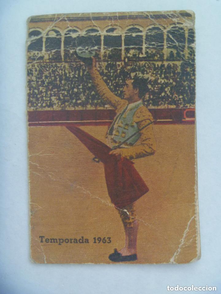ENTRADA PLAZA DE TOROS DE SEVILLA ( REAL MAESTRANZA ) : ABONO TEMPORADA 1963 . TENDIDO. (Coleccionismo - Tauromaquia)