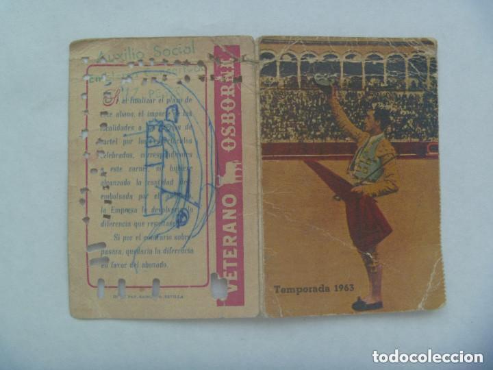 Tauromaquia: ENTRADA PLAZA DE TOROS DE SEVILLA ( REAL MAESTRANZA ) : ABONO TEMPORADA 1963 . TENDIDO. - Foto 3 - 153610798