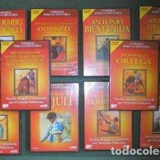 Tauromaquia: TOREROS PARA LA HISTORIA. POR FERNANDO ACHUCARRO. 10 DVD. Lote 155229854
