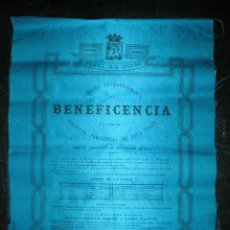 Tauromaquia: CARTEL SEDA PLAZA DE TOROS MADRID,1890 BENEFICENCIA. GANADERIA LA CAMARA Y NANDIN, LAGARTIJO, PASTOR. Lote 155458978