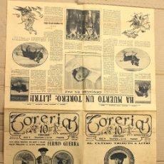Tauromaquia: REVISTA TORERIAS. EL ULTIMO TRIBUTO A LITRI. Nº 291. 21 DE FEBRERO DE 1926. Lote 156105406