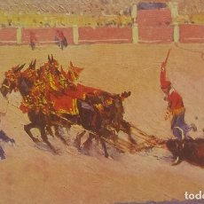 Tauromaquia: Nº 443 ARRASTRE M. BERTUCHI. POSTAL TAURINA EDICIONES VICTORIA. N. COLL SALIETI. BARCELONA.. Lote 156521710