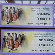 Tauromaquia: ENTRADA PLAZA DE TOROS DE ALGECIRAS, 6 JULIO 1986 RUIZ MIGUEL, ROBLES Y ORTEGA CANO. Lote 156722414