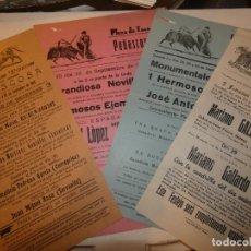 Tauromaquia: ALBACETE, 4 CARTELES PLAZA DE TOROS DE PEÑASCOSA 1943,51,56 Y 57.NOLI AGUSTINA FLORES. SAMUEL FLORES. Lote 156828670