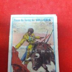 Tauromaquia: PROGRAMA DE MANO DE LA PLAZA DE TOROS DE VILLENA 1979. Lote 157090388