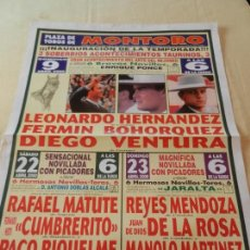 Tauromaquia: CARTEL DE TOROS PLAZA DE MONTORO. 9, 22 Y 23 DE ABRIL 2000. MATUTE, CUMBRERITO, MENDOZA, RIQUELME.... Lote 157283810