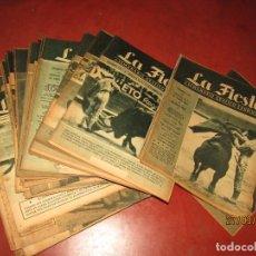 Tauromaquia: ANTIGUO LOTE 50 REVISTAS SEMANARIO GRÁFICO TAURINO LA FIESTA MEXICO VENDIDO EN ESPAÑA AÑO 1948-1950. Lote 158167930