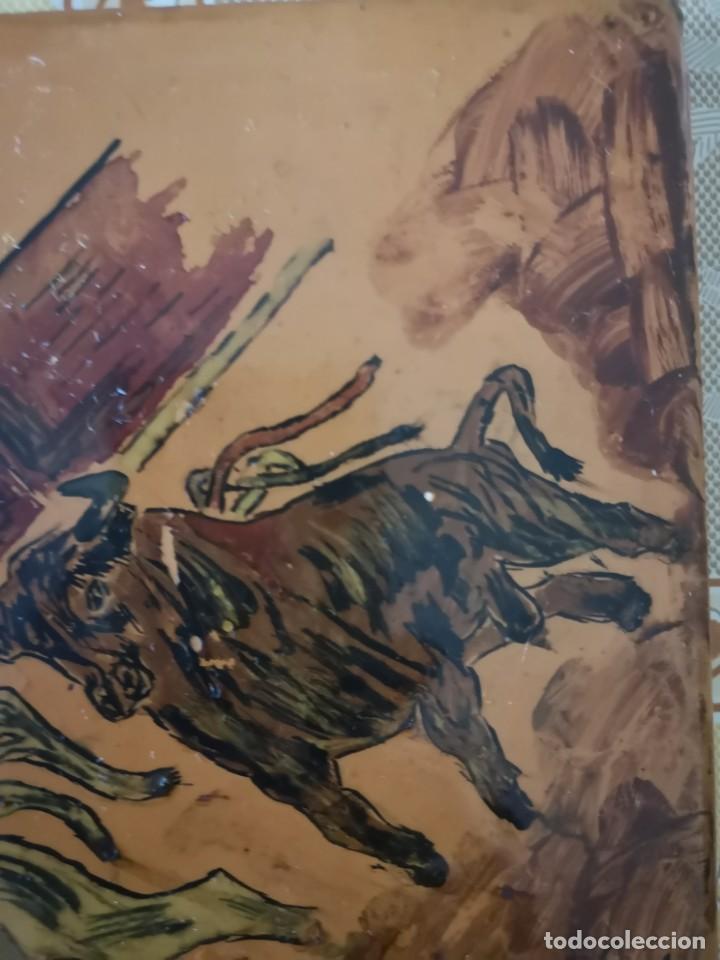 Tauromaquia: Azulejo escena taurina firma J Diaz 1965 - Foto 5 - 158537126