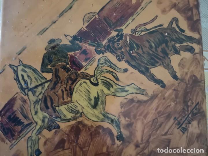 Tauromaquia: Azulejo escena taurina firma J Diaz 1965 - Foto 8 - 158537126