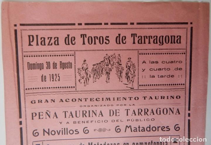Tauromaquia: Plaza de Toros Tarragona 1925 - Andrés Tordesillas, de Jerez; Gabriel Roche, Barquero; Miguel Díaz.. - Foto 4 - 158550182