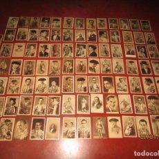 Tauromaquia: ANTIGUO LOTE DE 95 TARJETAS DEL ÁLBUM BIOGRÁFICO TAURINO DEL AÑO 1945. Lote 158722146