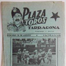Tauromaquia: PLAZA TOROS TARRAGONA / RENOVACIÓN DE EL BOMBERO TORERO - AGRUPACIÓN MUSICAL CARAVANA. Lote 159057678