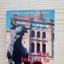 Tauromaquia: LIBRETO TERTULIA TAURINA LA GARROCHA - QUE TOMARA LA ALTERNATIVA. Lote 160423870