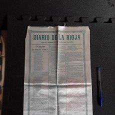 Tauromaquia: CARTEL TAURINO DE LOGROÑO (RIOJA) EN SEDA DEL AÑO 1905.. Lote 160561922