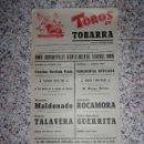 Tauromaquia: CARTEL DE TOROS EN TOBARRA.. Lote 160567670