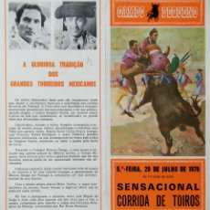 Tauromaquia: PROGRAMA DE TOROS. PLAZA DE TOROS CAMPO PEQUENO ( PORTUGAL ). 1976. LEER.. Lote 162435018