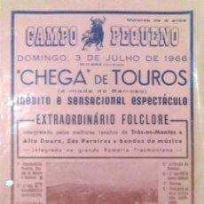Tauromaquia: CARTEL. PLAZA DE TOROS DE CAMPO PEQUENO. ( PORTUGAL ). 1966. EXTRAORDINARIO FOLCLORE. PRECOS.. Lote 162523282