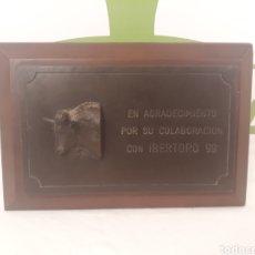 Tauromaquia: PLACA CONMEMORATIVA.IBERTORO 1999.. Lote 162908786