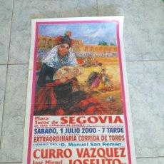Tauromaquia: CARTEL PLAZA DE TOROS DE SEGOVIA 2000. Lote 163457268