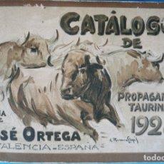 Tauromaquia: CATALOGO TOROS PROPAGANDA LITOGRAFIA ORTEGA , 1928 , CARTELES, PROSPECTOS, ENTRADAS ,ORIGINAL. Lote 163821466