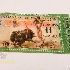 Tauromaquia: ENTRADA PLAZA DE TOROS MONUMENTAL DE BARCELONA. Lote 164175546