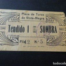 Tauromaquia: ENTRADA PLAZA DE TOROS DE BILBAO TENDIDO 1 SOMBRA HACIA 1910. Lote 164593822