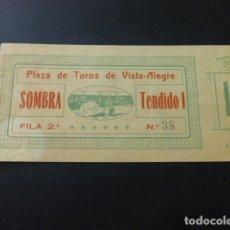 Tauromaquia: ENTRADA PLAZA DE TOROS DE BILBAO SOMBRA TENDIDO 1 HACIA 1910. Lote 164595014