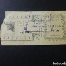 Tauromaquia: ENTRADA PLAZA DE TOROS DE BILBAO SOMBRA PALCO HACIA 1905. Lote 164595474