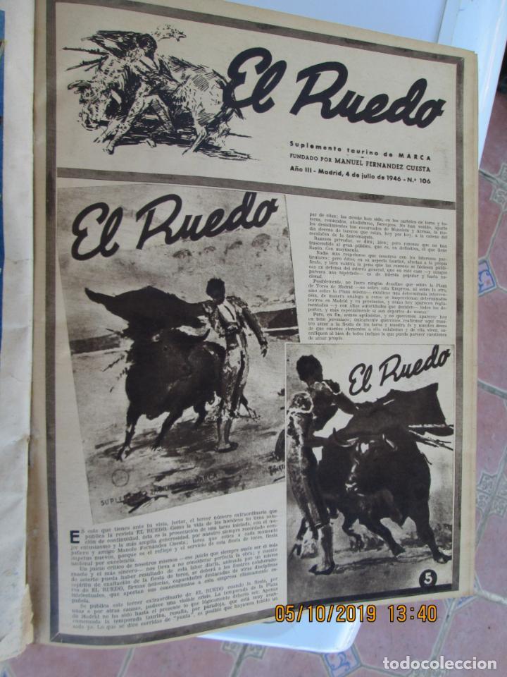 Tauromaquia: EL RUEDO AÑO 1946 23 REVISTAS ENCUADERNADAS DESDE JULIO 1946 HASTA DICIEMBRE BUEN ESTADO - Foto 2 - 164599186