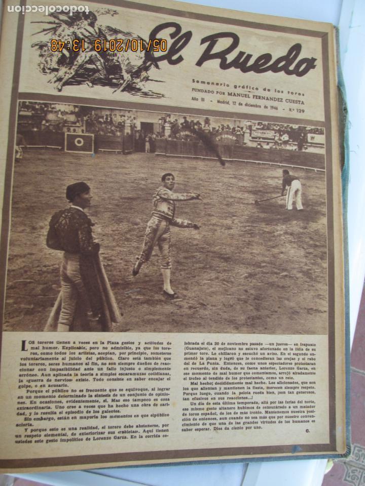 Tauromaquia: EL RUEDO AÑO 1946 23 REVISTAS ENCUADERNADAS DESDE JULIO 1946 HASTA DICIEMBRE BUEN ESTADO - Foto 3 - 164599186