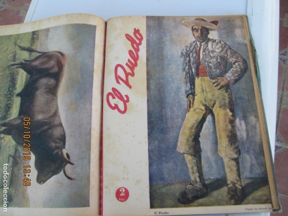 Tauromaquia: EL RUEDO AÑO 1946 23 REVISTAS ENCUADERNADAS DESDE JULIO 1946 HASTA DICIEMBRE BUEN ESTADO - Foto 4 - 164599186