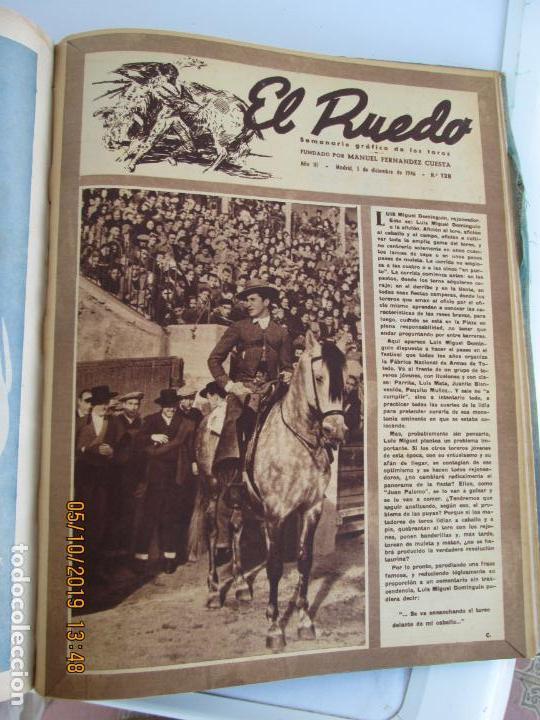 Tauromaquia: EL RUEDO AÑO 1946 23 REVISTAS ENCUADERNADAS DESDE JULIO 1946 HASTA DICIEMBRE BUEN ESTADO - Foto 5 - 164599186