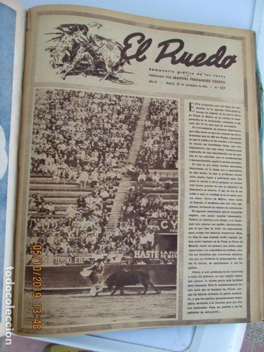Tauromaquia: EL RUEDO AÑO 1946 23 REVISTAS ENCUADERNADAS DESDE JULIO 1946 HASTA DICIEMBRE BUEN ESTADO - Foto 7 - 164599186