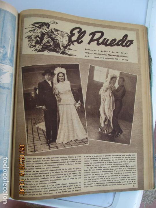 Tauromaquia: EL RUEDO AÑO 1946 23 REVISTAS ENCUADERNADAS DESDE JULIO 1946 HASTA DICIEMBRE BUEN ESTADO - Foto 9 - 164599186