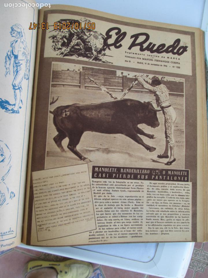 Tauromaquia: EL RUEDO AÑO 1946 23 REVISTAS ENCUADERNADAS DESDE JULIO 1946 HASTA DICIEMBRE BUEN ESTADO - Foto 11 - 164599186