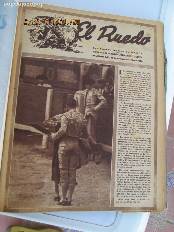 Tauromaquia: EL RUEDO AÑO 1946 23 REVISTAS ENCUADERNADAS DESDE JULIO 1946 HASTA DICIEMBRE BUEN ESTADO - Foto 15 - 164599186
