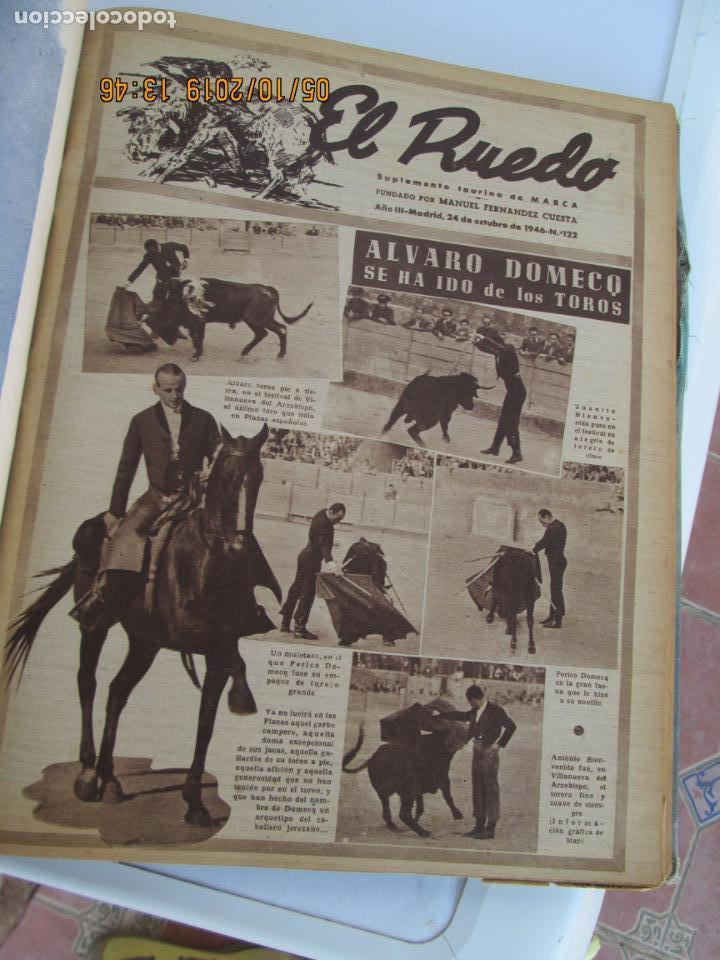 Tauromaquia: EL RUEDO AÑO 1946 23 REVISTAS ENCUADERNADAS DESDE JULIO 1946 HASTA DICIEMBRE BUEN ESTADO - Foto 17 - 164599186