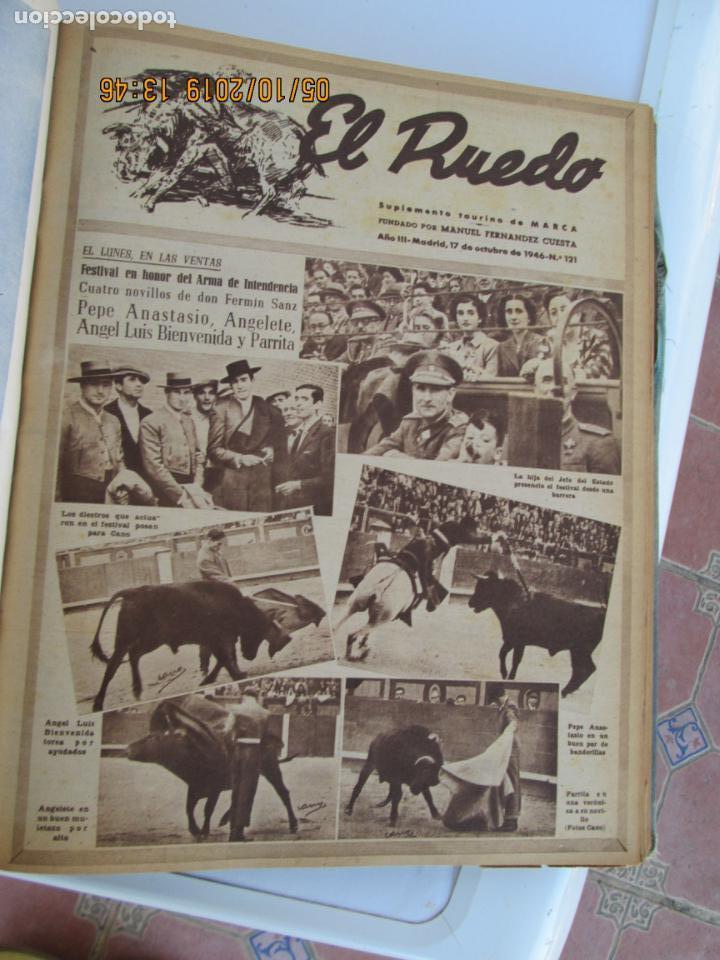 Tauromaquia: EL RUEDO AÑO 1946 23 REVISTAS ENCUADERNADAS DESDE JULIO 1946 HASTA DICIEMBRE BUEN ESTADO - Foto 19 - 164599186