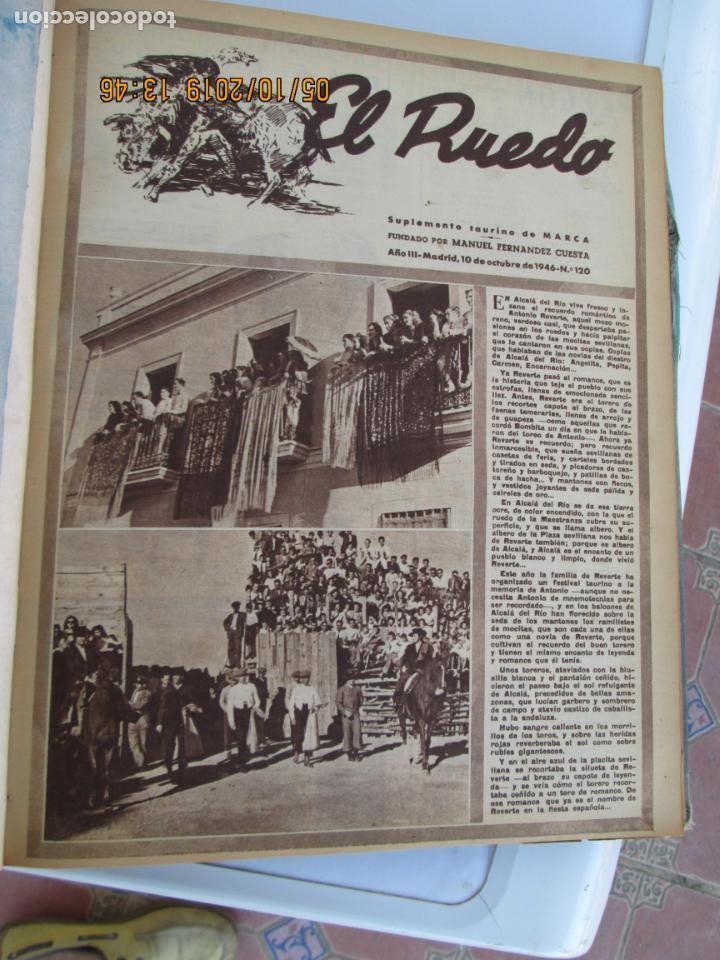 Tauromaquia: EL RUEDO AÑO 1946 23 REVISTAS ENCUADERNADAS DESDE JULIO 1946 HASTA DICIEMBRE BUEN ESTADO - Foto 21 - 164599186