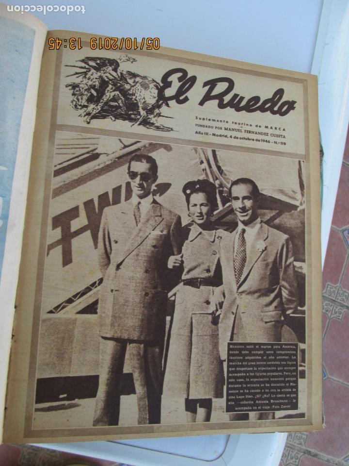 Tauromaquia: EL RUEDO AÑO 1946 23 REVISTAS ENCUADERNADAS DESDE JULIO 1946 HASTA DICIEMBRE BUEN ESTADO - Foto 23 - 164599186