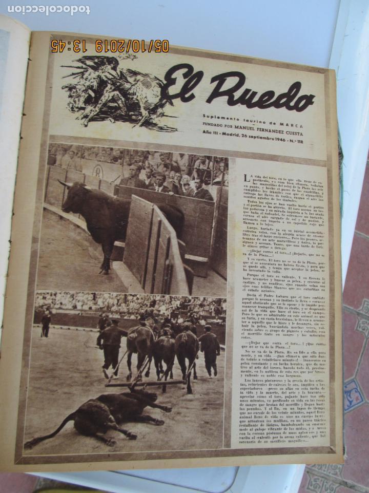 Tauromaquia: EL RUEDO AÑO 1946 23 REVISTAS ENCUADERNADAS DESDE JULIO 1946 HASTA DICIEMBRE BUEN ESTADO - Foto 25 - 164599186