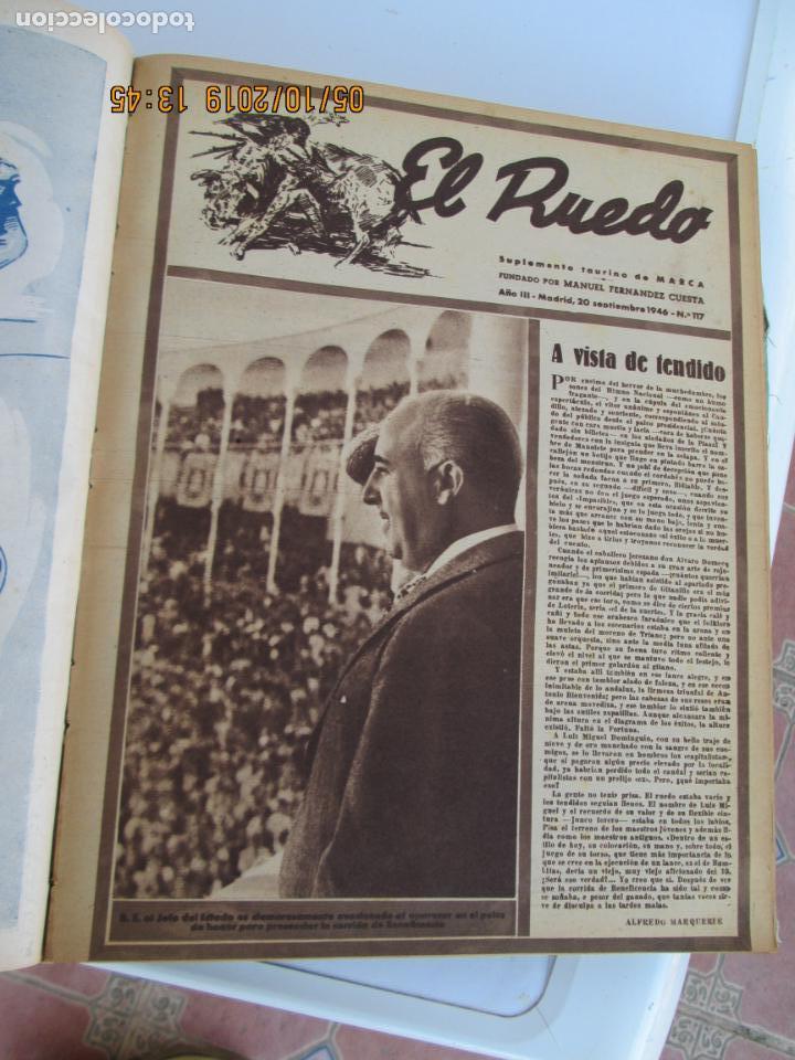 Tauromaquia: EL RUEDO AÑO 1946 23 REVISTAS ENCUADERNADAS DESDE JULIO 1946 HASTA DICIEMBRE BUEN ESTADO - Foto 27 - 164599186